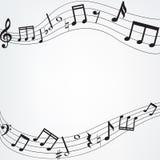 Muzyczna notatki granica Zdjęcia Stock