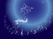 muzyczna orbita Zdjęcia Royalty Free