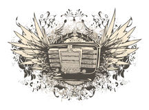 muzyczna projekt koszula t Zdjęcie Royalty Free