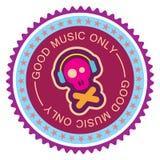 Muzyczna round etykietka Obrazy Royalty Free