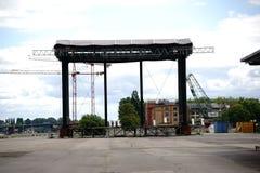 Muzyczna scena Zollhafen Mainz Zdjęcia Stock