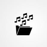 Muzyczna skoroszytowa ikona Obraz Stock