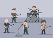 Muzyczna zespołu mieszkania grafika Zdjęcia Stock