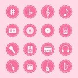 Muzyczne ikony Fotografia Royalty Free