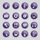 Muzyczne ikony Obrazy Stock