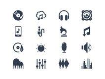 Muzyczne ikony Zdjęcia Royalty Free