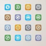 Muzyczne ikony ustawiać Zdjęcia Stock