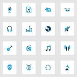 Muzyczne kolorowe ikony ustawiać Fotografia Royalty Free