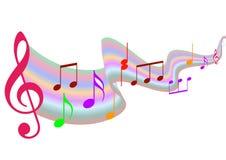muzyczne notatki Fotografia Stock