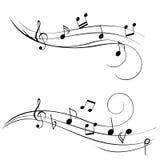 muzyczne notatki Zdjęcia Stock