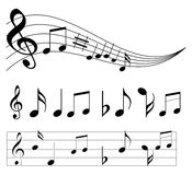 muzyczne notatki Obraz Royalty Free