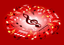 muzyczne notatki ilustracji