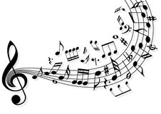 muzyczne notatki Zdjęcia Royalty Free