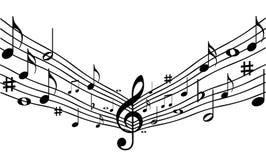 Muzyczne notatki. ilustracja wektor