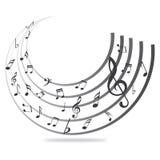 Muzyczne notatki Zdjęcie Royalty Free