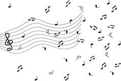 muzyczne notatki Fotografia Royalty Free