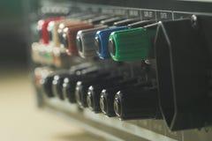 Muzycznego amplifikatoru tylny panel Obraz Royalty Free