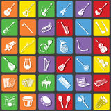 Muzycznego instrumentu ikony Obraz Royalty Free