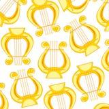 Muzycznego instrumentu lira wzór Obraz Stock