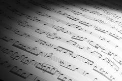 Muzycznego prześcieradła tło Obraz Royalty Free
