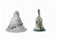 Muzyczni dzwony, notatka i bas, Obraz Royalty Free