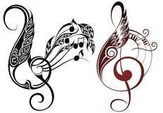 Muzyczni elementy Zdjęcie Stock