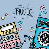 Muzyczni elementy bawić się harmonia rytm ilustracji