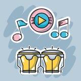 Muzyczni elementy bawić się harmonia rytm ilustracja wektor