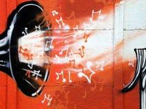 Muzyczni graffiti Zdjęcia Royalty Free