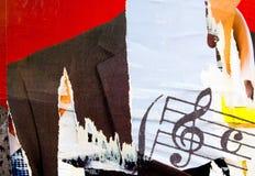 Muzyczni grunge tła Zdjęcia Stock