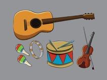 Muzyczni instrumenty Obrazy Royalty Free