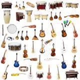 Muzyczni instrumenty Zdjęcia Royalty Free