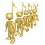 muzyczni ludzie ilustracja wektor