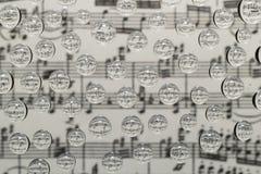 Muzyczni waterdrops zdjęcia royalty free