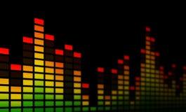 Muzyczni wyrównywaczy bary - zakończenie Obrazy Stock