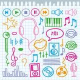 muzyczni znaki royalty ilustracja