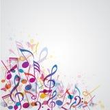 Muzyczny abstrakcjonistyczny tło Fotografia Royalty Free