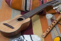 Muzyczny Ameryka Południowa Charango bardon Fotografia Royalty Free