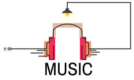 Muzyczny Audio Multimedialny hełmofonu pojęcie Obraz Stock