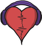 Muzyczny bicie serca Obraz Stock