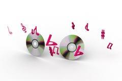 Muzyczny cd Obraz Royalty Free
