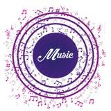 Muzyczny cyfrowy projekt Obrazy Stock