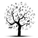 Muzyczny drzewo Obraz Stock