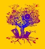 Muzyczny drzewo Fotografia Royalty Free