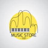 Muzyczny emblemat Zdjęcia Royalty Free