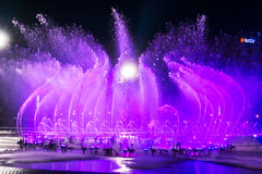 Muzyczny fontanna kwadrat jest w Dalian Zdjęcia Stock