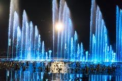 Muzyczny fontanna kwadrat jest w Dalian Obraz Royalty Free