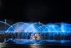 Muzyczny fontanna kwadrat jest w Dalian Obrazy Stock