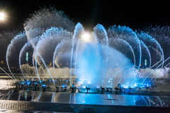 Muzyczny fontanna kwadrat jest w Dalian Fotografia Stock