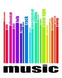 Muzyczny gatunku pojęcie royalty ilustracja